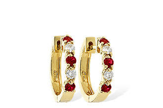 A038-12294: EARRINGS .33 RUBY .52 TGW
