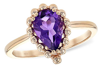 E226-31430: LDS RING 1.06 CT AMETHYST